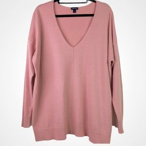 Torrid PINK SWEATER KNIT LONG SLEEVE TOP